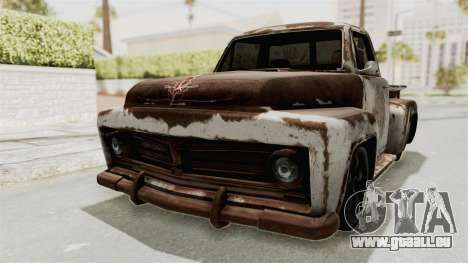 GTA 5 Slamvan Stock PJ2 für GTA San Andreas Seitenansicht