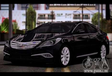 Hyundai Grandeur 2015 STOCK pour GTA San Andreas vue arrière