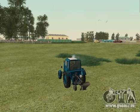 MTZ 80 Biélorussie pour GTA San Andreas sur la vue arrière gauche