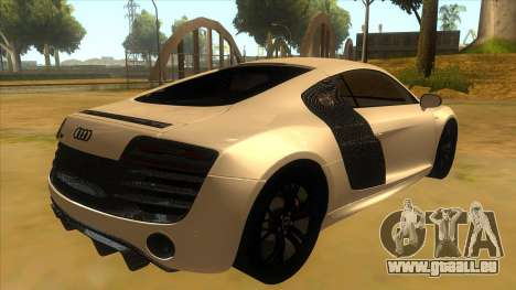 Audi R8 5.2 V10 Plus pour GTA San Andreas vue de droite