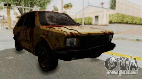 Zastava Yugo Koral 55 Rusty pour GTA San Andreas vue de droite