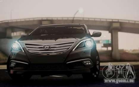 Hyundai Grandeur 2015 STOCK pour GTA San Andreas vue intérieure