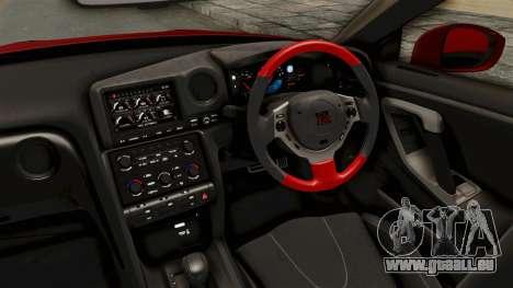 Nissan GT-R R35 Liberty Walk LB Performance v2 für GTA San Andreas Innenansicht