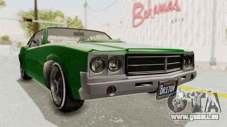 GTA 5 Declasse Sabre GT2 für GTA San Andreas rechten Ansicht