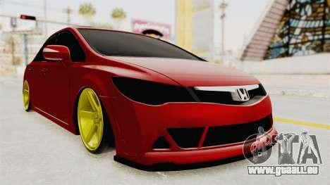 Honda Civic FD6 für GTA San Andreas rechten Ansicht