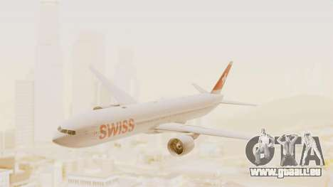 Boeing 777-300ER Swiss International Air Lines pour GTA San Andreas sur la vue arrière gauche