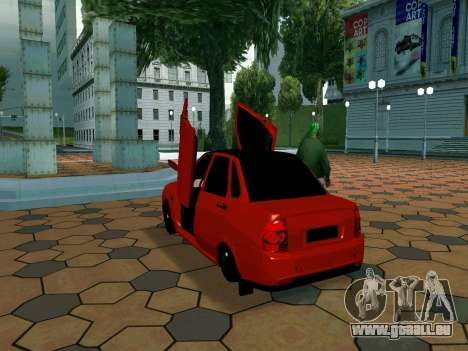 Lada Priora Lambo pour GTA San Andreas vue arrière