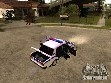 VAZ 2107 DPS für GTA San Andreas zurück linke Ansicht