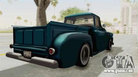 Chevrolet Apache 1958 für GTA San Andreas zurück linke Ansicht