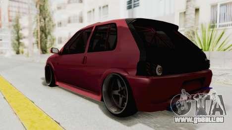 Peugeot 106 V2 RWD Greek Style pour GTA San Andreas sur la vue arrière gauche