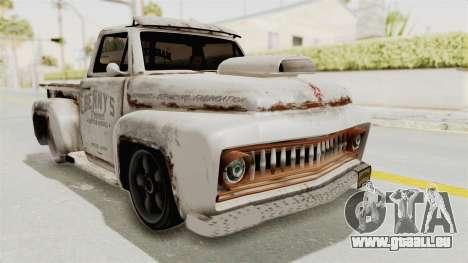 GTA 5 Slamvan Lowrider PJ2 für GTA San Andreas zurück linke Ansicht
