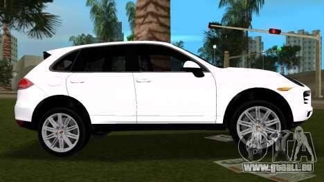 Porsche Cayenne 2012 pour une vue GTA Vice City de la gauche