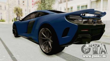 McLaren 675LT Coupe v1.0 für GTA San Andreas zurück linke Ansicht