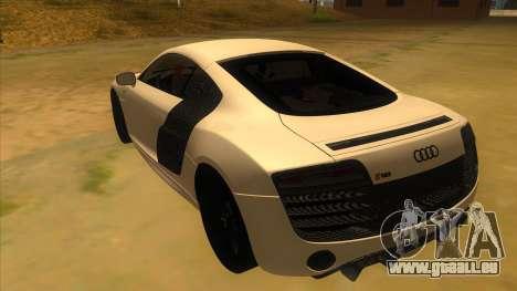 Audi R8 5.2 V10 Plus pour GTA San Andreas sur la vue arrière gauche