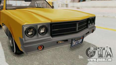 GTA 5 Declasse Sabre GT2 A IVF pour GTA San Andreas vue de dessus