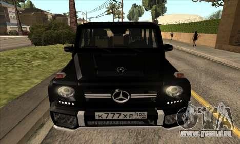 Mercedes G63 Biturbo für GTA San Andreas Seitenansicht