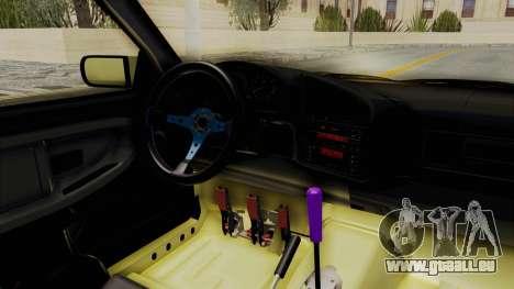 BMW M3 E36 Drift für GTA San Andreas Innenansicht