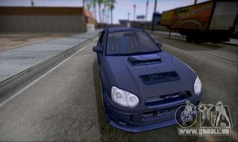 Subaru impreza WRX STi LP400 v2 pour GTA San Andreas sur la vue arrière gauche