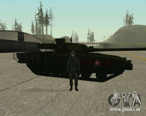 T-14 Armata für GTA San Andreas Unteransicht
