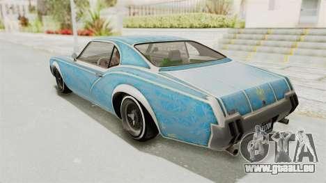 GTA 5 Declasse Sabre GT2 für GTA San Andreas Räder