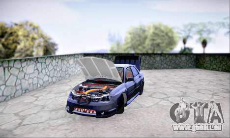Subaru Impreza WRX STI Dark Knight für GTA San Andreas Rückansicht