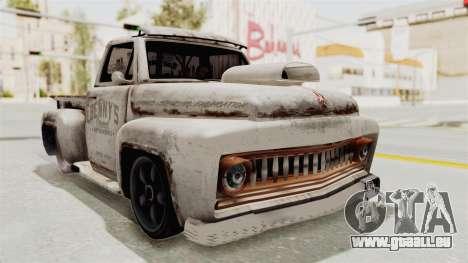 GTA 5 Slamvan Lowrider pour GTA San Andreas sur la vue arrière gauche