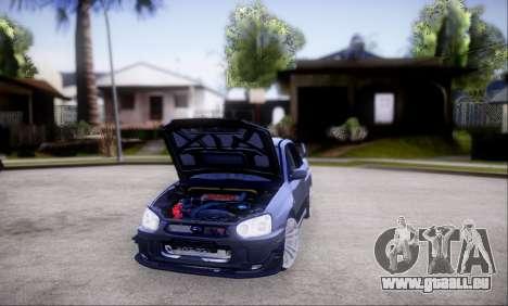 Subaru impreza WRX STi LP400 v2 pour GTA San Andreas vue de dessus