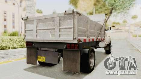Chevrolet Kodiak Dumper Truck pour GTA San Andreas sur la vue arrière gauche
