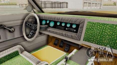 GTA 5 Declasse Sabre GT2 A IVF pour GTA San Andreas vue intérieure