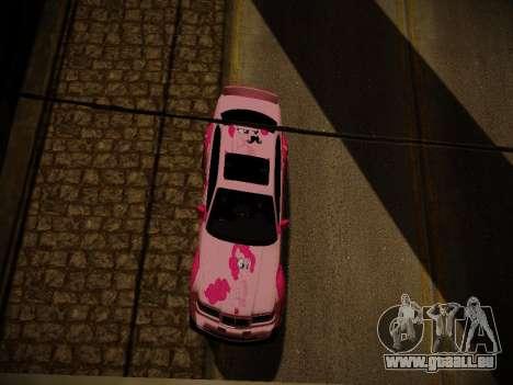 BMW M3 E36 Pinkie Pie pour GTA San Andreas salon