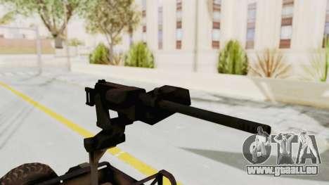 MGSV Jeep pour GTA San Andreas vue arrière