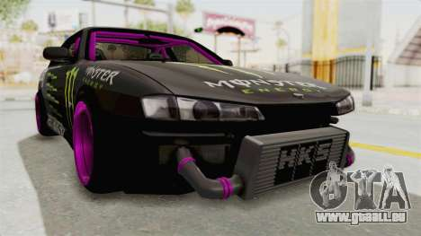 Nissan Silvia S14 Drift Monster Energy Falken pour GTA San Andreas vue de droite