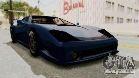 Turismo Fulmine pour GTA San Andreas sur la vue arrière gauche