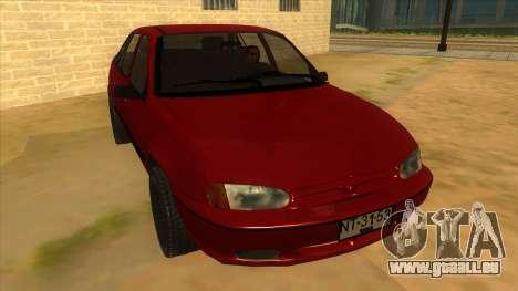 Daewoo Racer GTI pour GTA San Andreas vue arrière