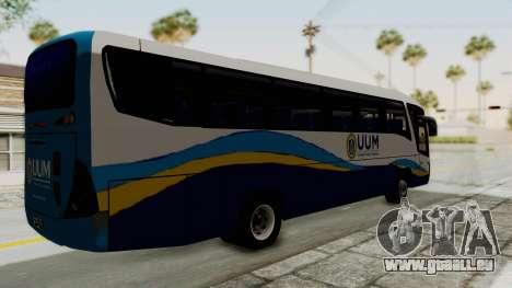 Marcopolo UUM Bus pour GTA San Andreas sur la vue arrière gauche
