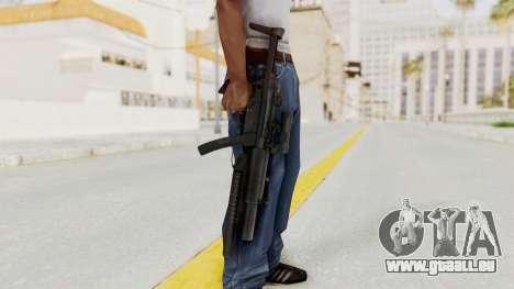 MP5SD with Grenade Launcher pour GTA San Andreas troisième écran