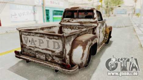 GTA 5 Slamvan Stock PJ2 für GTA San Andreas Innenansicht