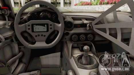Mazda MX-5 Cup 2015 v2.0 pour GTA San Andreas vue intérieure