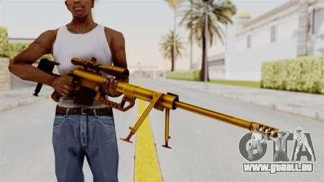 Cheytac M200 Intervention Gold für GTA San Andreas dritten Screenshot