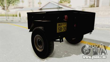 GAZ-704 Remorque pour GTA San Andreas vue de droite