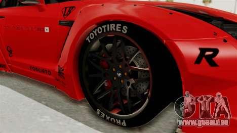 Nissan GT-R R35 Liberty Walk LB Performance v2 für GTA San Andreas Rückansicht