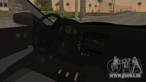 Honda Civic 1995 FnF pour GTA San Andreas vue intérieure