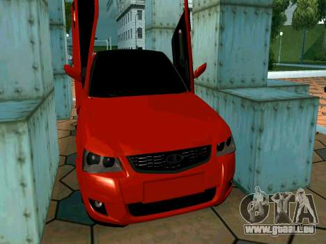 Lada Priora Lambo für GTA San Andreas obere Ansicht