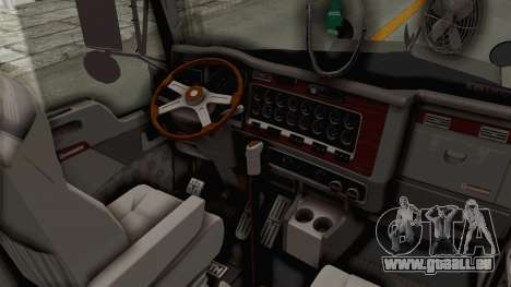 Kenworth T800 Centenario pour GTA San Andreas vue intérieure