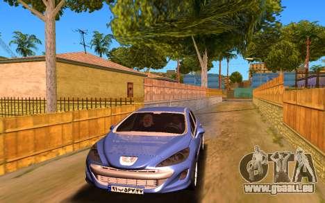 Iranian Peugeot 308 für GTA San Andreas