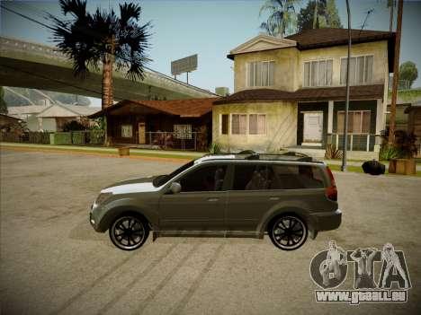Great Wall Hover H2 2008 pour GTA San Andreas sur la vue arrière gauche
