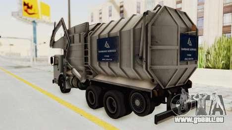 New Trashmaster pour GTA San Andreas vue de droite
