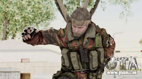 Battery Online Russian Soldier 2 pour GTA San Andreas