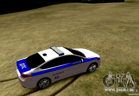 Ford Mondeo Russian Police pour GTA 4 Vue arrière de la gauche