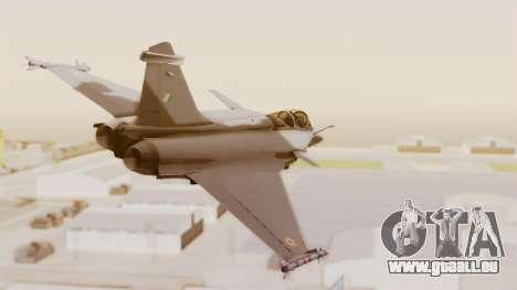 Dassault Rafale Indian Air Force pour GTA San Andreas vue de droite
